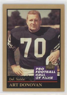 1991 Enor Pro Football Hall of Fame - [Base] #35 - Art Donovan