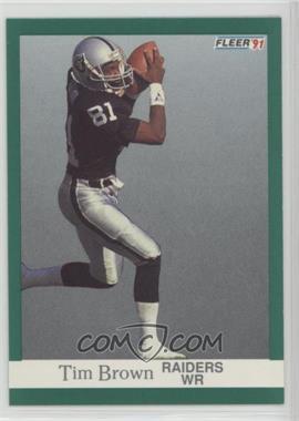 1991 Fleer - [Base] #104 - Tim Brown