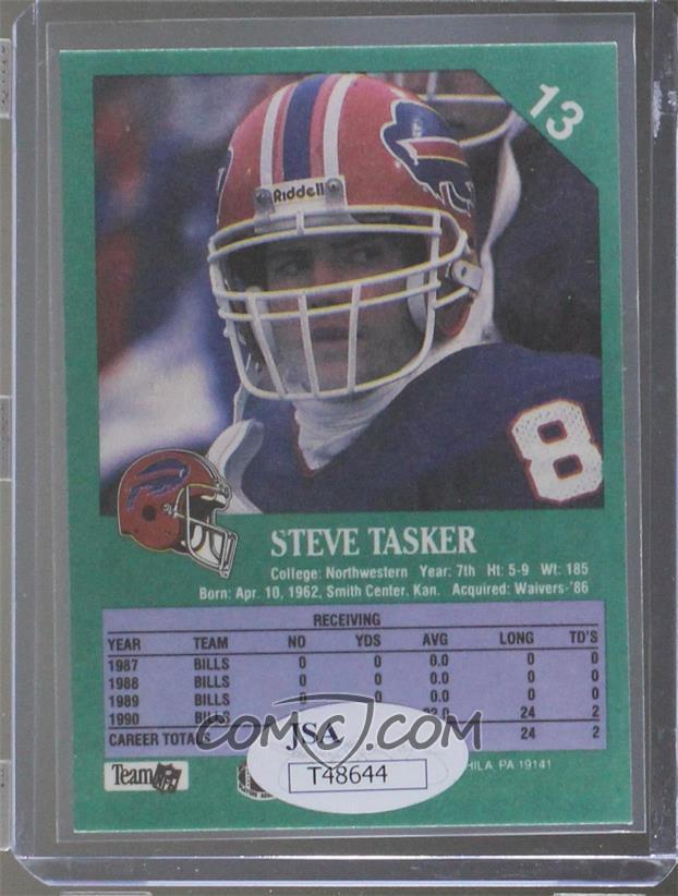 1991 Fleer -  Base   13 - Steve Tasker  JSA Certified COA Sticker ... 7b50de121