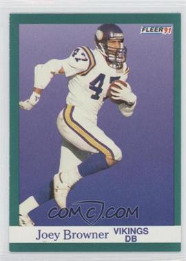 1991 Fleer - [Base] #278 - Joey Browner