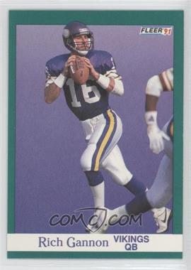 1991 Fleer - [Base] #282 - Rich Gannon
