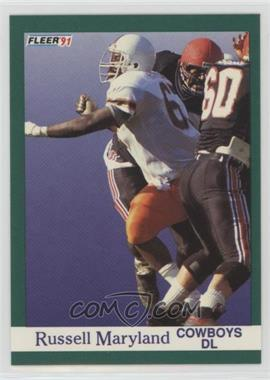 1991 Fleer - [Base] #423 - Russell Maryland