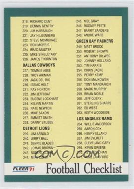 1991 Fleer - [Base] #431 - Checklist