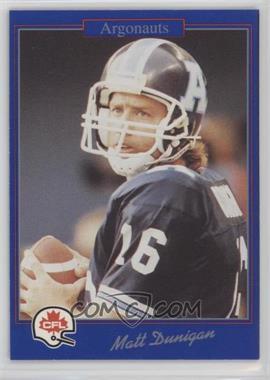 1991 Jogo CFL - [Base] #195 - Matt Dunigan