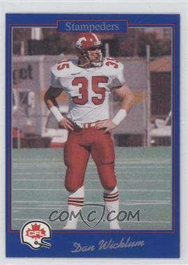 1991 Jogo CFL - [Base] #57 - Dan Wicklum
