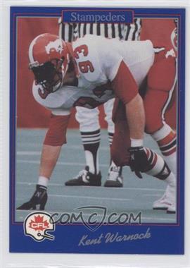 1991 Jogo CFL - [Base] #70 - Kent Warnock