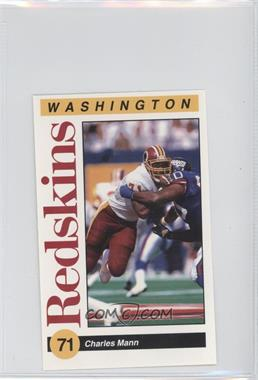 1991 Mobil Washington Redskins Police - [Base] #5 - Charles Mann