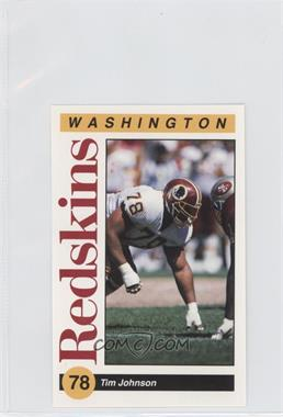 1991 Mobil Washington Redskins Police - [Base] #78 - Tim Johnson