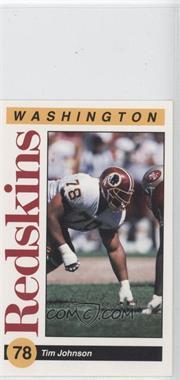 1991 Mobil Washington Redskins Police - [Base] #78 - Tim Johnson