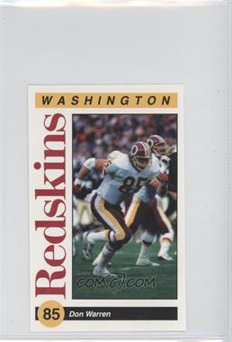 1991 Mobil Washington Redskins Police - [Base] #85 - Don Warren