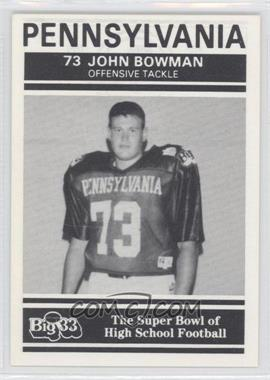 1991 PNC Big 33 Football Classic - [Base] #22 - John Bowman