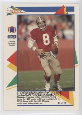 1991 Pacific Flash Cards - [Base] #1 - Steve Young