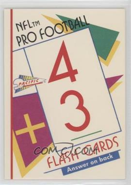 1991 Pacific Flash Cards - [Base] #43 - John Elway