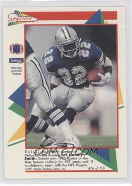 1991 Pacific Flash Cards - [Base] #76 - Emmitt Smith