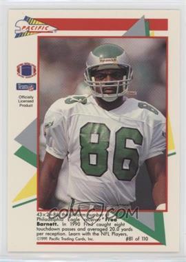 1991 Pacific Flash Cards - [Base] #81 - Fred Barnett