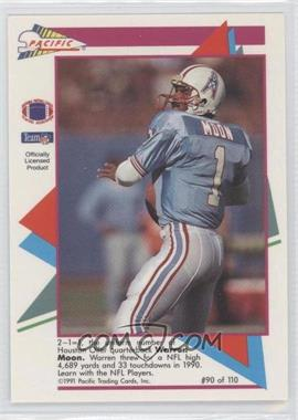 1991 Pacific Flash Cards - [Base] #90 - Warren Moon