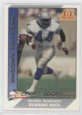 1991 Pacific Oroweat Seattle Seahawks - [Base] #17 - Derrick Fenner