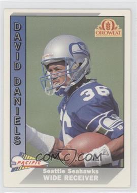 1991 Pacific Oroweat Seattle Seahawks - [Base] #46 - David Daniels