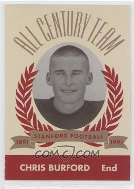 1991 Pepsi/Togo's Stanford Cardinal All Century Team - [Base] #1957 - Chris Burford
