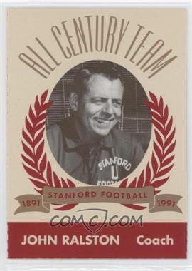 1991 Pepsi/Togo's Stanford Cardinal All Century Team - [Base] #N/A - John Ralston