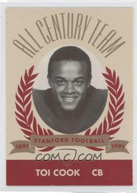 1991 Pepsi/Togo's Stanford Cardinal All Century Team - [Base] #N/A - Toi Cook