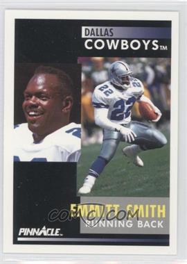 "1991 Pinnacle - [Base] #42.1 - Emmitt Smith (""Despite missing training camp"" on back)"