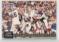 Bills' Rally Stuns Broncos (John Elway) (Corrected: NFLPA Logo on Back)