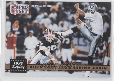 1991 Pro Set - [Base] #328.1 - Bills Come From Behind Again (Steve Tasker, Jeff Gossett) (No NFLPA Logo on Back)