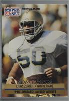 Chris Zorich (Grey box on back) [Noted]