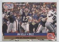 Jim Kelly (Variation: Slight ghost image of NFLPA logo)