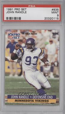 1991 Pro Set - [Base] #835 - John Randle [PSA 9]