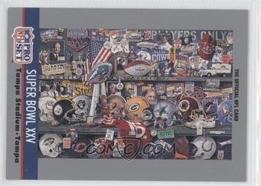 1991 Pro Set - Super Bowl Theme Art #25 - Super Bowl XXV