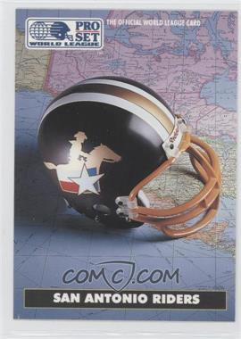 1991 Pro Set - WLAF Helmets #10 - San Antonio Riders (WLAF) Team
