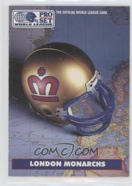 1991 Pro Set - WLAF Helmets #4 - London Monarchs (WLAF) Team