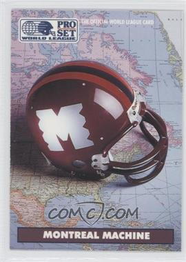 1991 Pro Set - WLAF Helmets #5 - Montreal Machine (WLAF) Team