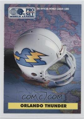 1991 Pro Set - WLAF Helmets #7 - Orlando Thunder (WLAF) Team