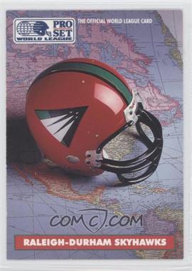 1991 Pro Set - WLAF Helmets #8 - Raleigh-Durham Skyhawks (WLAF) Team