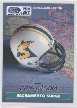 1991 Pro Set - WLAF Helmets #9 - Sacramento Surge (WLAF) Team