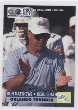 1991 Pro Set - WLAF Inserts #21 - Don Matthews