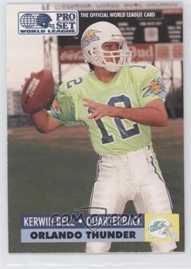 1991 Pro Set - WLAF Inserts #22 - Kerwin Bell