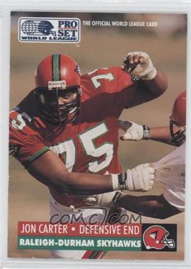 1991 Pro Set - WLAF Inserts #25 - Jon Carter