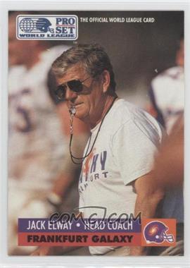 1991 Pro Set - WLAF Inserts #9 - Jack Elway