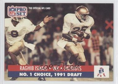 1991 Pro Set Draft Day - [Base] #694.3 - Rocket Ismail (New England)