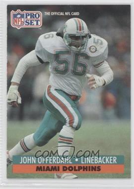 1991 Pro Set Mobil FACT - [Base] #212 - John Offerdahl