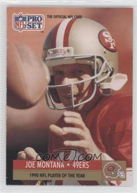 1991 Pro Set Mobil FACT - [Base] #3 - Joe Montana