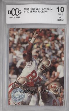 1991 Pro Set Platinum - [Base] #140 - Jerry Rice [ENCASED]