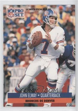 1991 Pro Set Spanish - [Base] #57 - John Elway