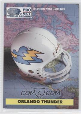 1991 Pro Set WLAF - [Base] #16 - Orlando Thunder (WLAF) Team