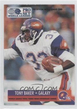 1991 Pro Set WLAF - [Base] #23 - Tony Baker