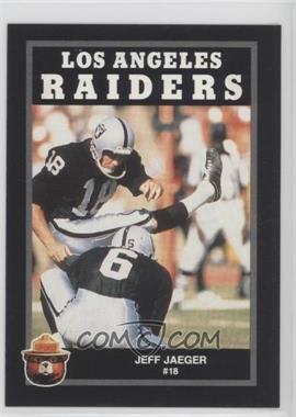 1991 Smokey Bear Los Angeles Raiders - [Base] #JEJA - Jeff Jaeger